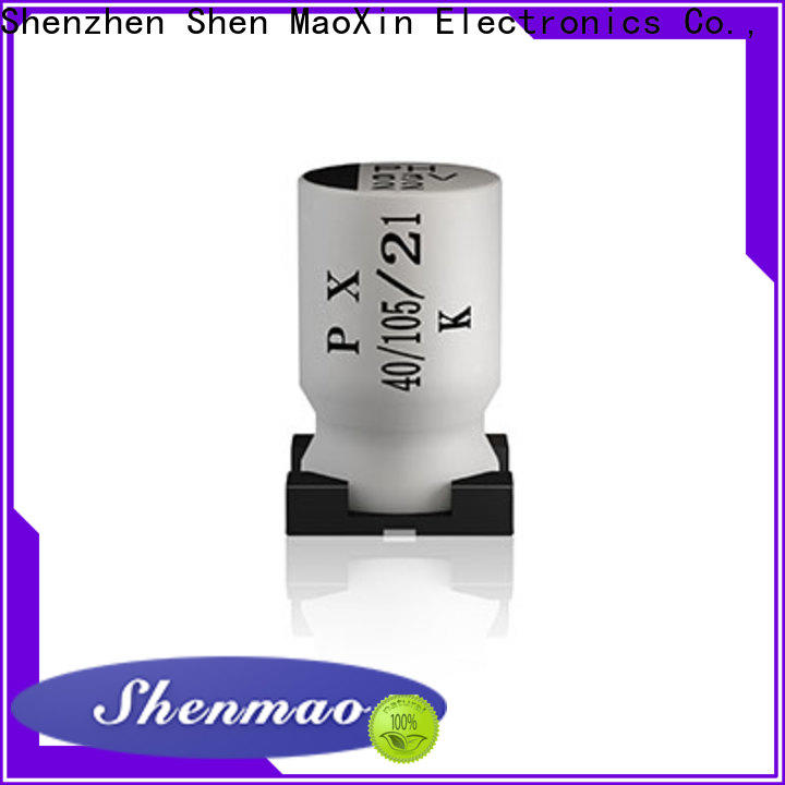 Shenmao energy-saving surface mount electrolytic capacitor overseas market for coupling