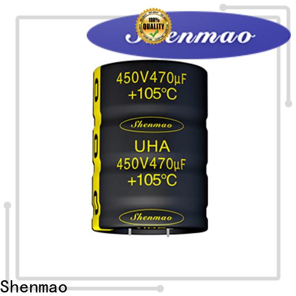 Shenmao low profile aluminum electrolytic capacitors bulk production for energy storage
