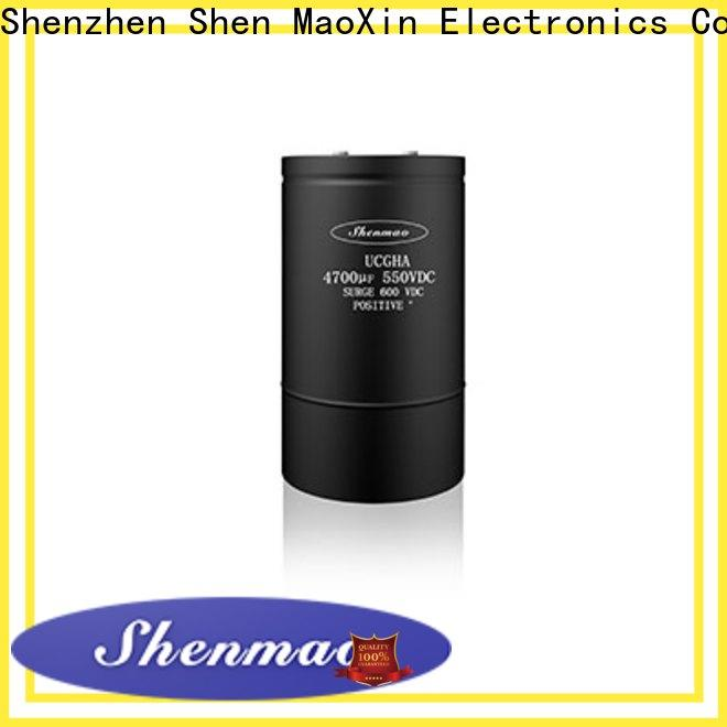 Shenmao Screw Terminal Aluminum Electrolytic Capacitor overseas market for energy storage