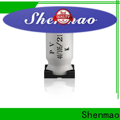 Shenmao high quality surface mount electrolytic capacitor oem service for coupling