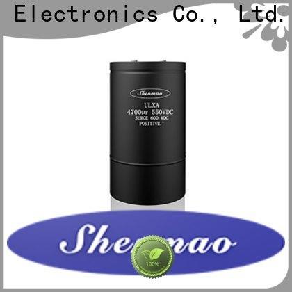 Shenmao low esr aluminum electrolytic capacitors marketing for temperature compensation