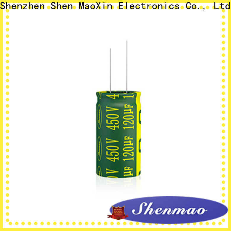 Shenmao easy to use 10uf 450v radial electrolytic capacitor supplier for filter