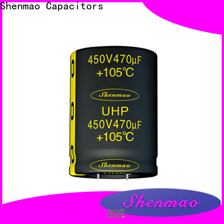 Shenmao satety snap-in capacitors bulk production for DC blocking