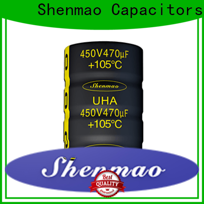 stable snap in electrolytic capacitors bulk production for DC blocking