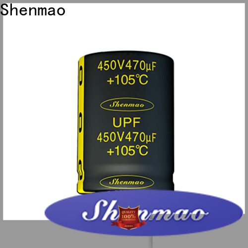 Shenmao snap in aluminum electrolytic capacitors bulk production for rectification