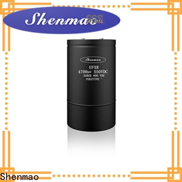 Shenmao large electrolytic capacitor oem service for DC blocking