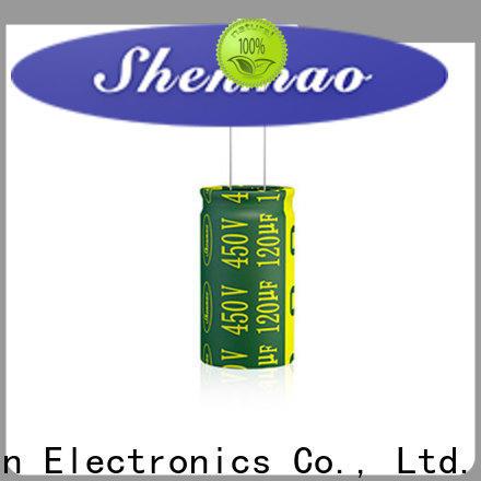 Shenmao 1000uf 450v radial electrolytic capacitors marketing for DC blocking