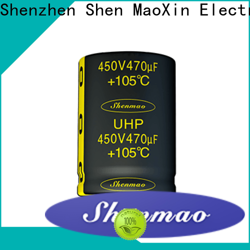 Shenmao quality-reliable snap-in capacitors supplier for DC blocking