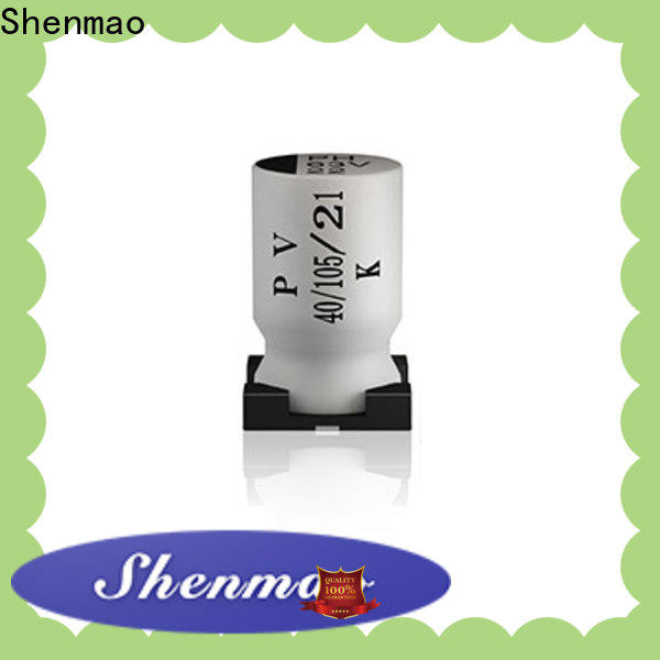 Shenmao professional 10uf smd electrolytic capacitor overseas market for filter