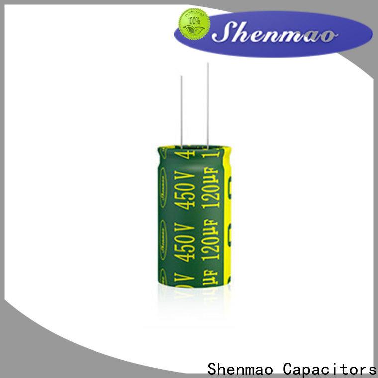 Shenmao aluminum electrolytic capacitor vendor for DC blocking