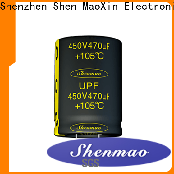 Shenmao snap in capacitor bulk production for rectification