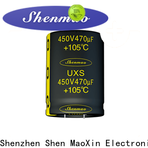 Shenmao easy to use electrolytic capacitors in series bulk production for DC blocking