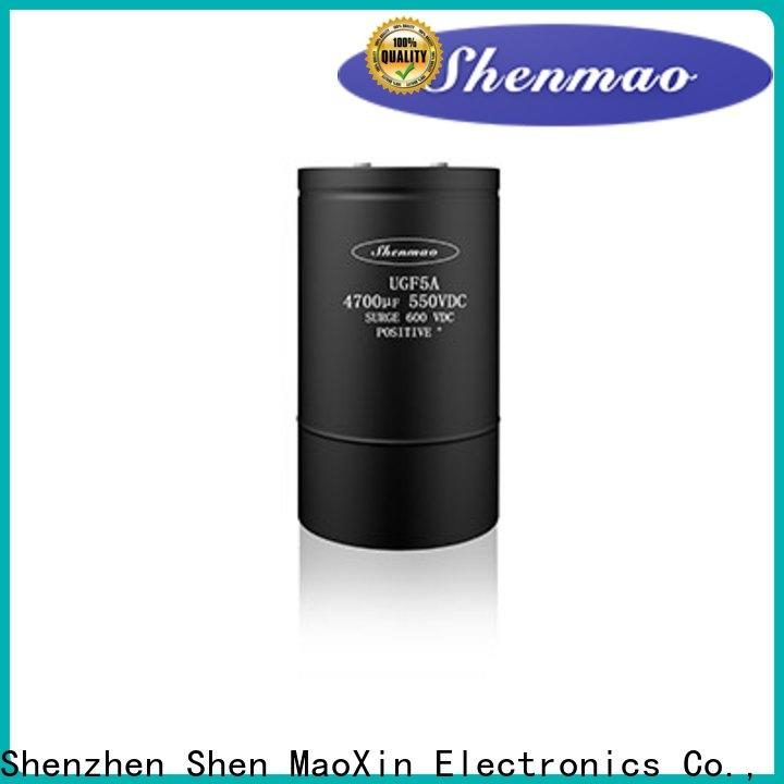 Shenmao high voltage electrolytic capacitors for sale supplier for DC blocking