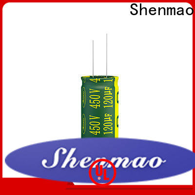 Shenmao satety 10uf 450v radial electrolytic capacitor vendor for rectification