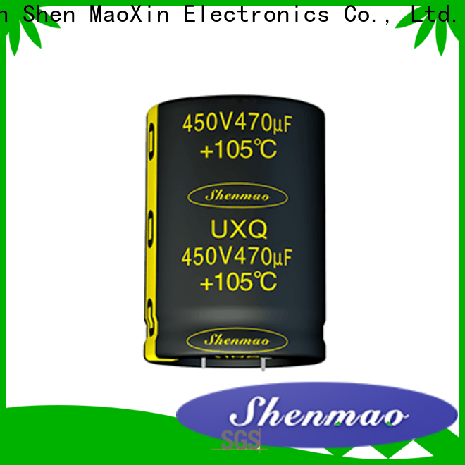 Shenmao satety 100uf electrolytic capacitor supplier for temperature compensation