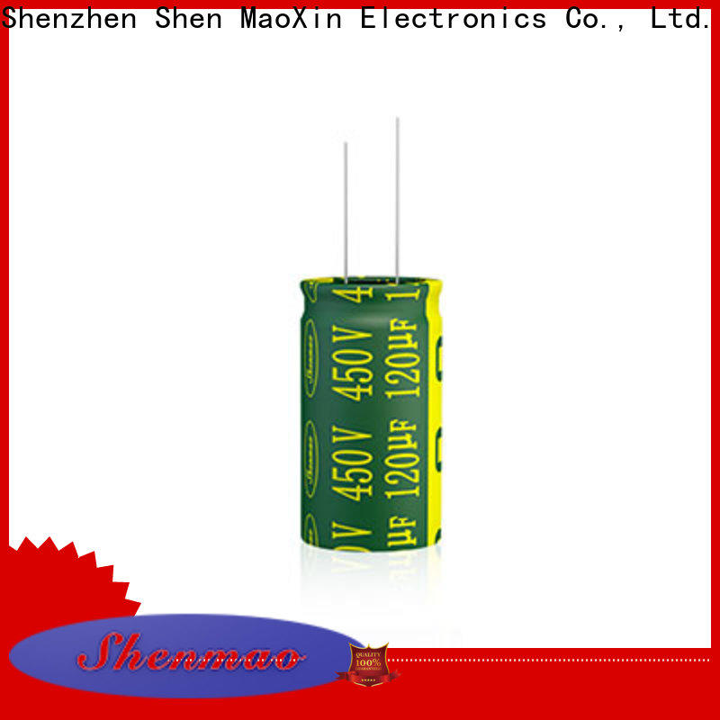 Shenmao durable radial aluminum electrolytic capacitors bulk production for timing