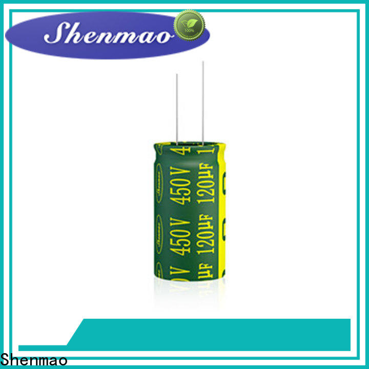 Shenmao radial aluminum electrolytic capacitors overseas market for tuning