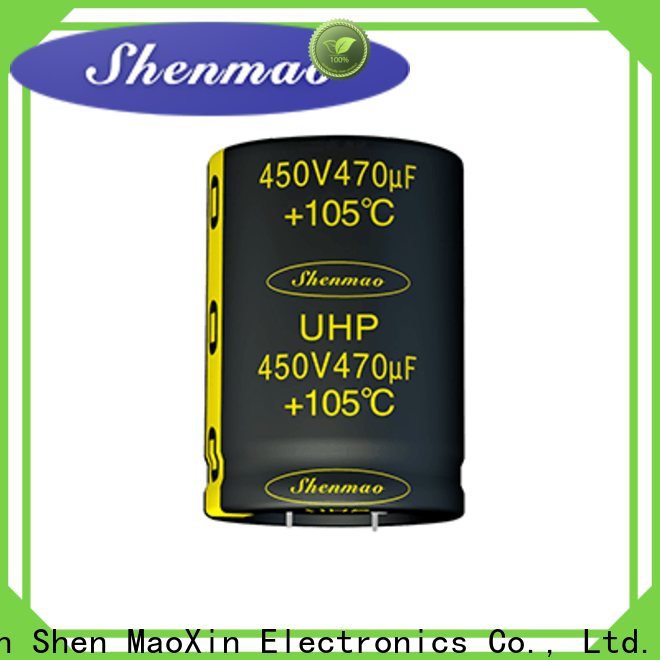 Shenmao nichicon capacitor series chart suppliers for DC blocking