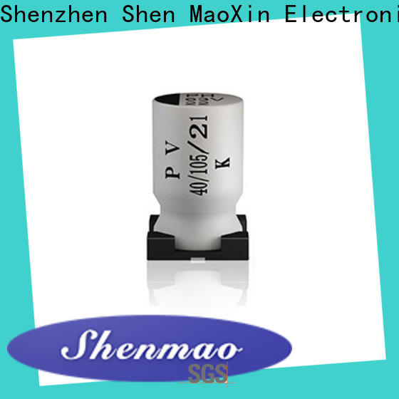 Shenmao axial leaded capacitors marketing for DC blocking