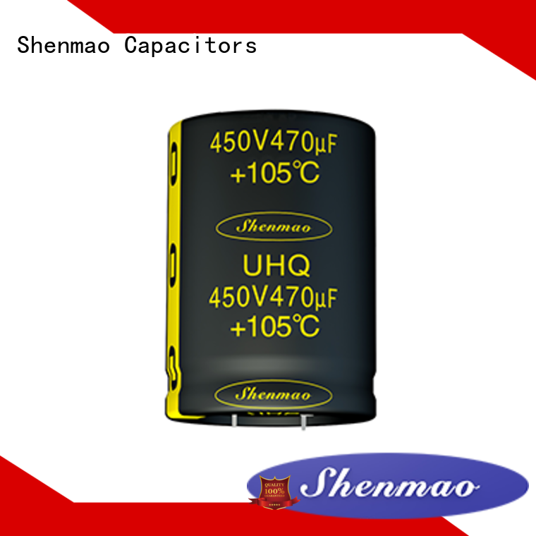 Shenmao snap in aluminum electrolytic capacitors supplier for filter