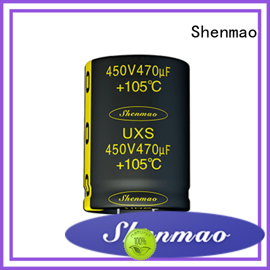 Shenmao snap in aluminum electrolytic capacitors bulk production for filter