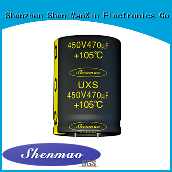 Shenmao snap in electrolytic capacitors bulk production for tuning