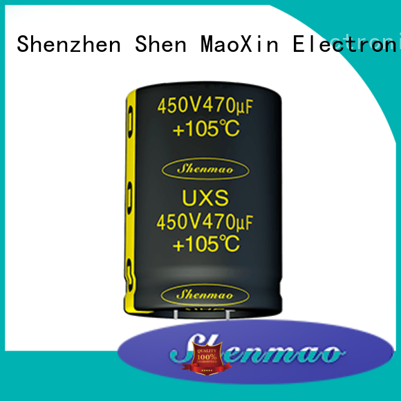 Shenmao snap in aluminum electrolytic capacitors bulk production for coupling