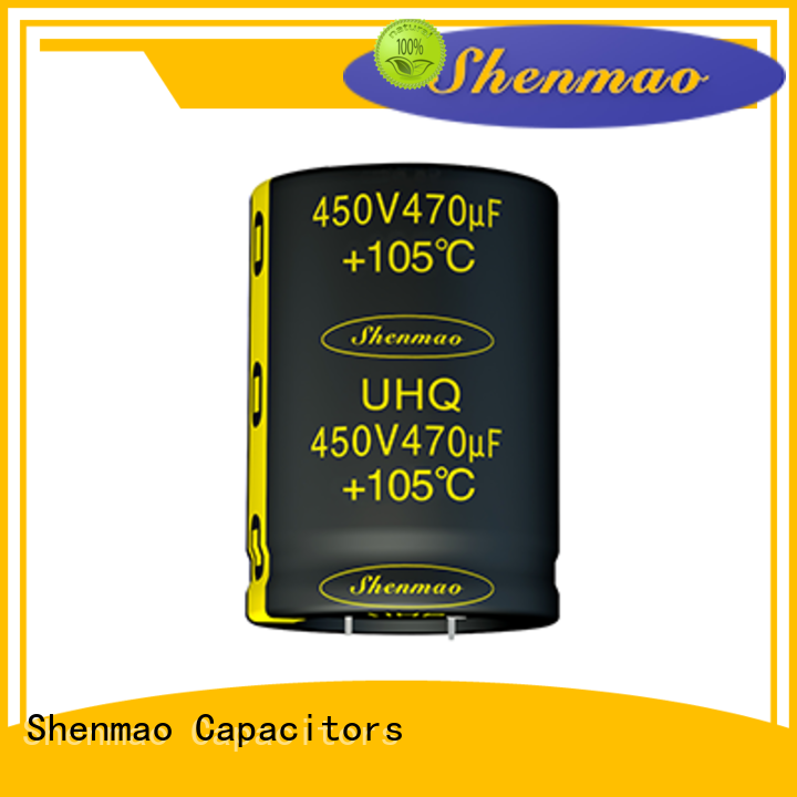Shenmao durable 500v electrolytic capacitor overseas market for temperature compensation