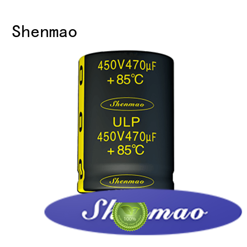 Shenmao stable snap in aluminum electrolytic capacitors bulk production for DC blocking