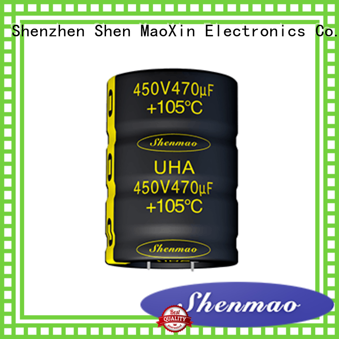 Shenmao snap in aluminum electrolytic capacitors supplier for temperature compensation