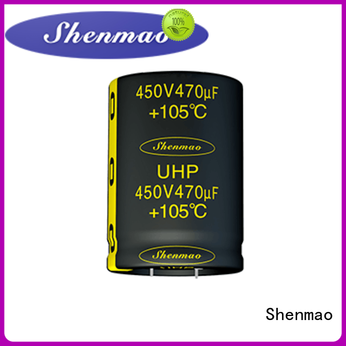 Shenmao snap in electrolytic capacitors marketing for tuning