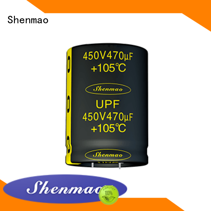 Shenmao snap-in capacitors marketing for rectification