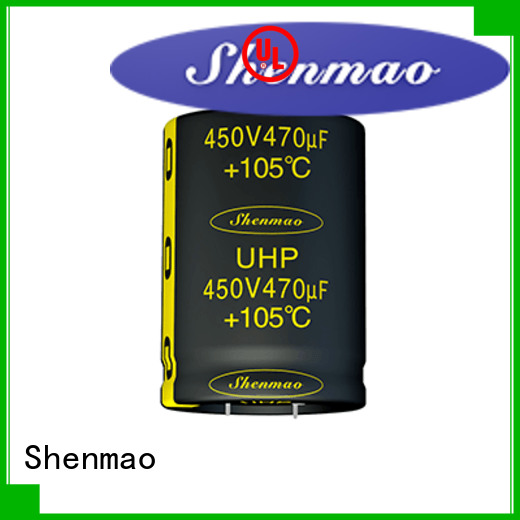 Shenmao quality-reliable snap in aluminum electrolytic capacitors owner for DC blocking