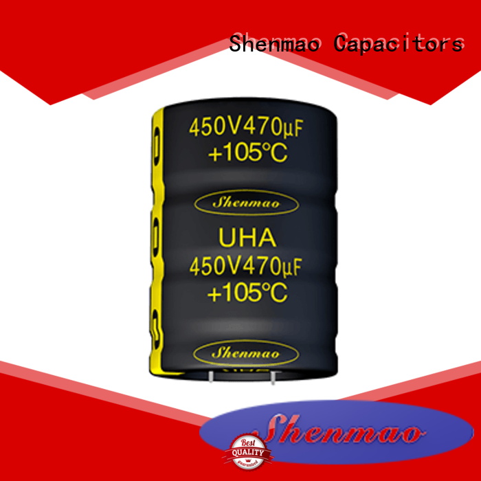 Shenmao snap in aluminum electrolytic capacitors owner for DC blocking