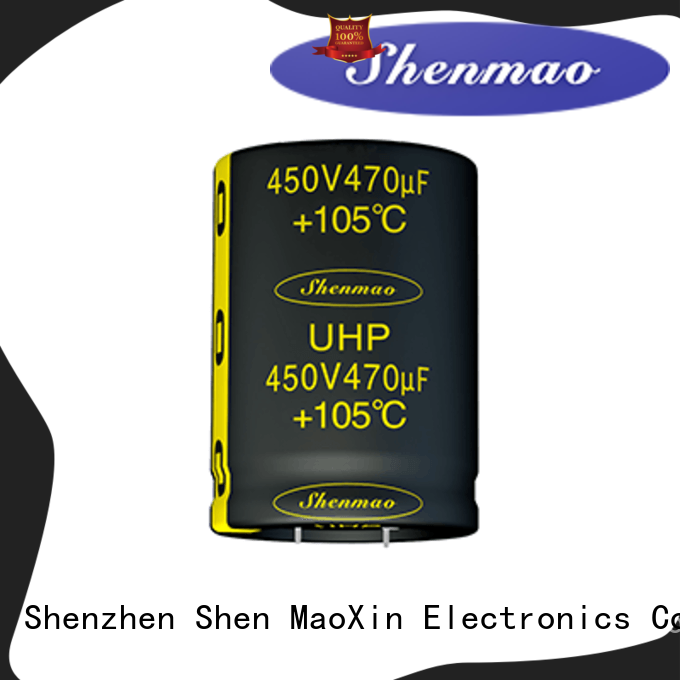 Shenmao snap in capacitor mount bulk production for DC blocking