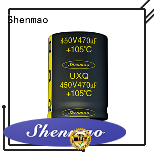 Shenmao snap in capacitor mount marketing for DC blocking