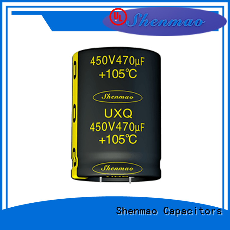 Shenmao easy to use snap in electrolytic capacitors bulk production for timing