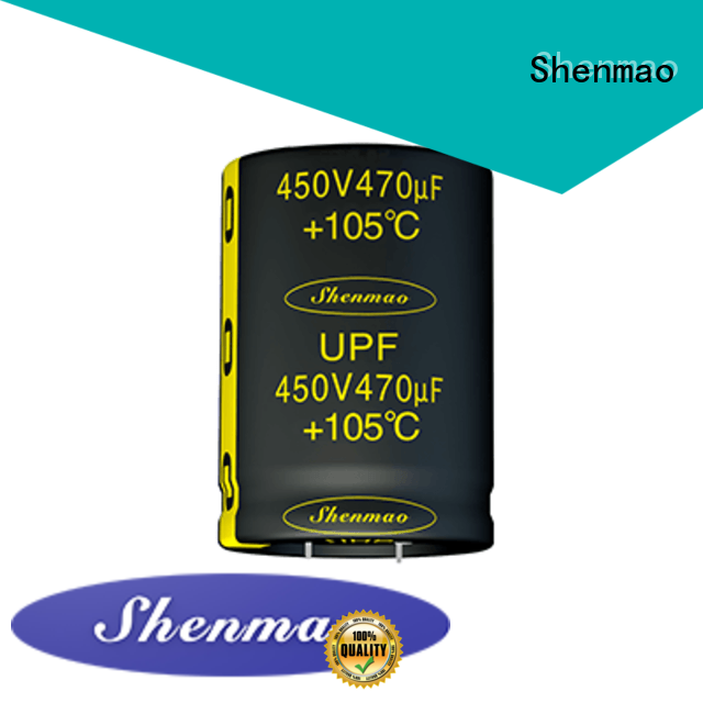 Shenmao quality-reliable snap in aluminum electrolytic capacitors supplier for DC blocking